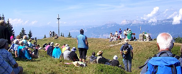 Mass at the Crêt du Poulet
