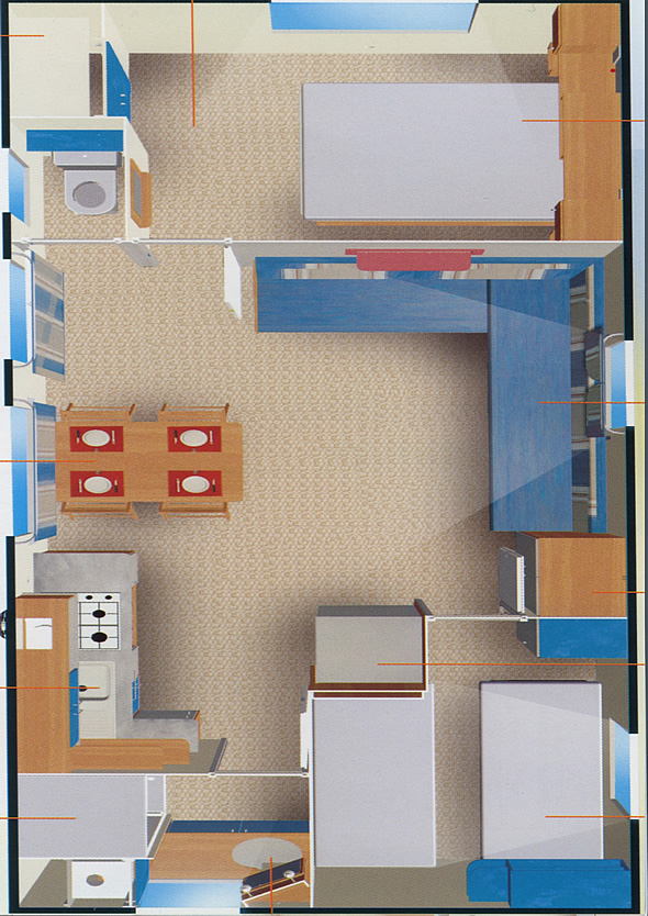 Plan Mobil homes Grand Large 4/6 places
