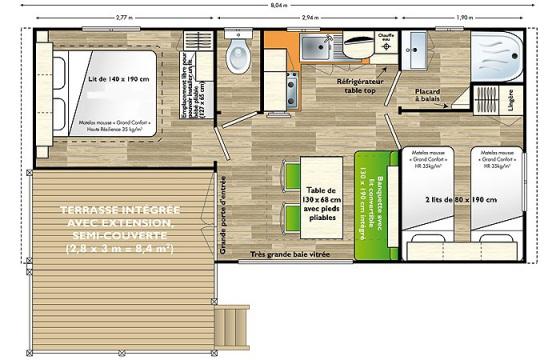 Plan Mobil home 4/6 places IRM Loggia